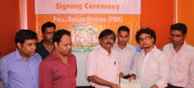 """Contract Signing with Pally Bikash Kendra (PBK) for implementing """"Energy Anirban"""""""